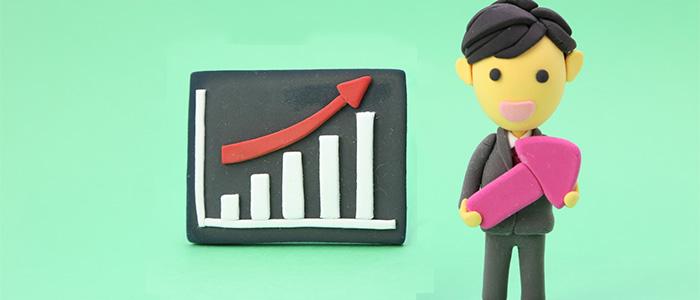 売上予測と目標のイメージ