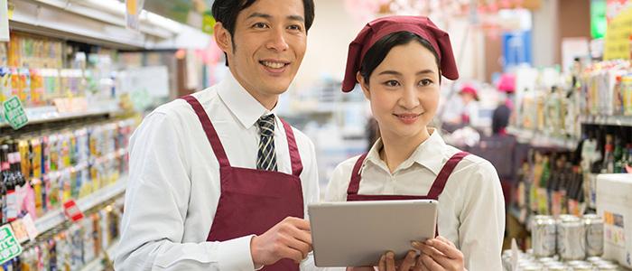 商品管理、在庫管理システムを使うイメージ