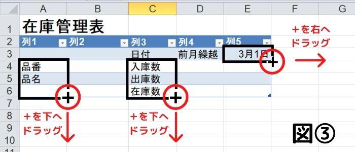 在庫管理表の作り方
