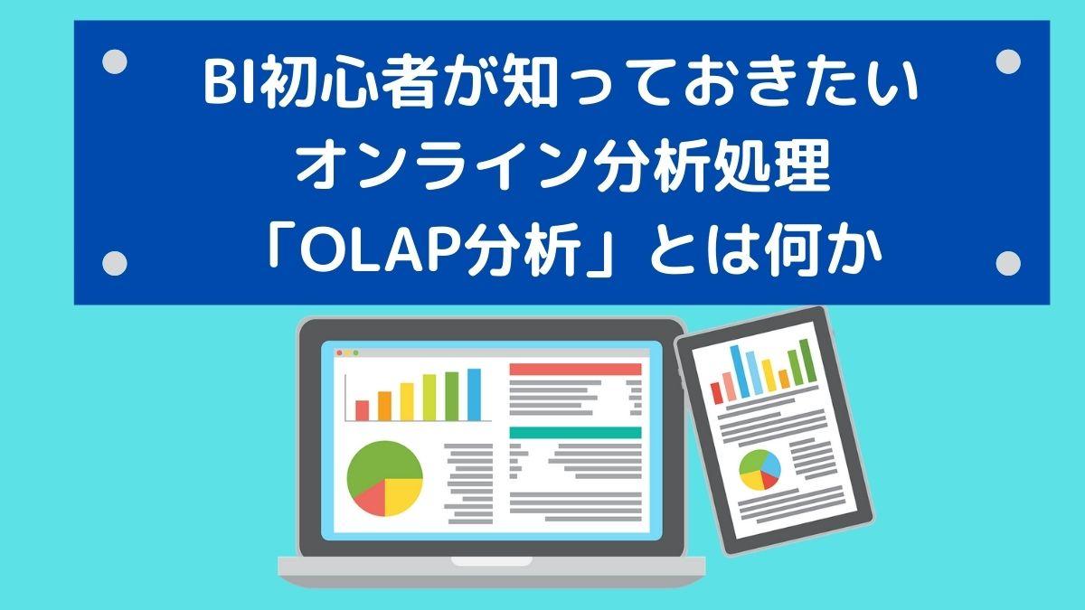 BI初心者が知っておきたいオンライン分析処理「OLAP分析」とは何か